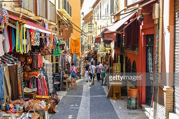 Arabic street market in Granada, Spain