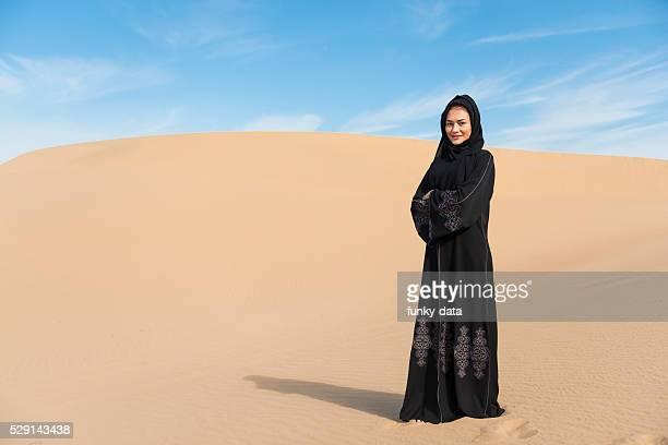 Arabic woman in desert