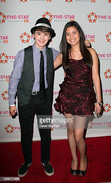 Araceli Gonzalez and Garrett Palmer attend A Place Called Home Holiday Benefit on December 10 2011 in Hollywood California