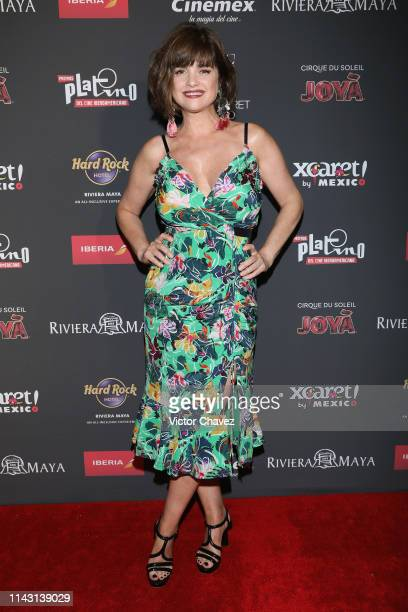 Araceli Gonzalez attends some interviews before the 6th Platino Awards on May 11 2019 in Playa del Carmen Mexico
