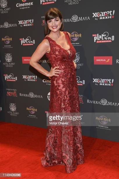 Araceli Gonzalez attends the red carpet of the Premios Platino 2019 at Occidental Xcaret Hotel on May 12 2019 in Playa del Carmen Mexico