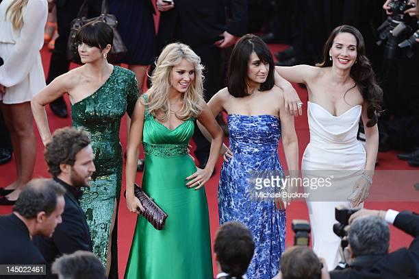 Araceli Gonzalez Luisana Lopilato Maria Laura Santillan and Natalia Oreiro and attends the 'Killing Them Softly' Premiere during 65th Annual Cannes...