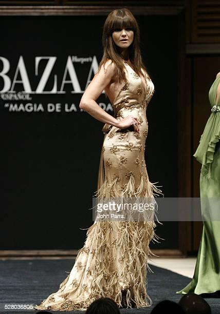 Araceli Gonzalez wearing Harpers Bazaar Collection Fall 2006