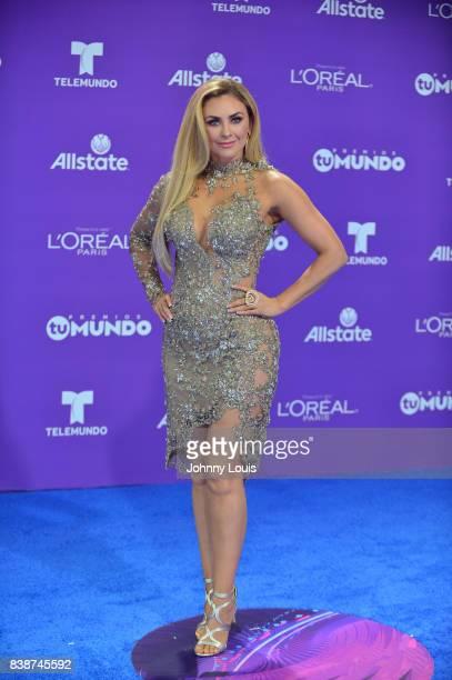 Aracely Arambula arrives at Telemundo's 2017 'Premios Tu Mundo' at American Airlines Arena on August 24 2017 in Miami Florida