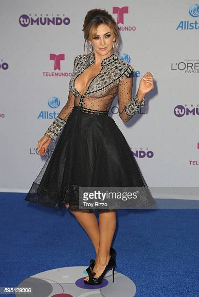 Aracely Arambula arrives at Telemundo's Premios Tu Mundo 'Your World' Awards at American Airlines Arena on August 25 2016 in Miami Florida