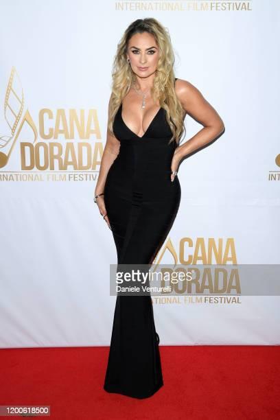 Aracely Arámbula attends Cana Dorada Film Music Festival Closing Gala Dinner Honoring Avi Lerner on January 19 2020 in Punta Cana Dominican Republic