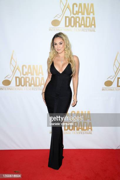 Aracely Arámbula attends Cana Dorada Film Music Festival Closing Gala Dinner Honoring Avi Lerner on January 19 2020 in Punta Cana Dominican Republic