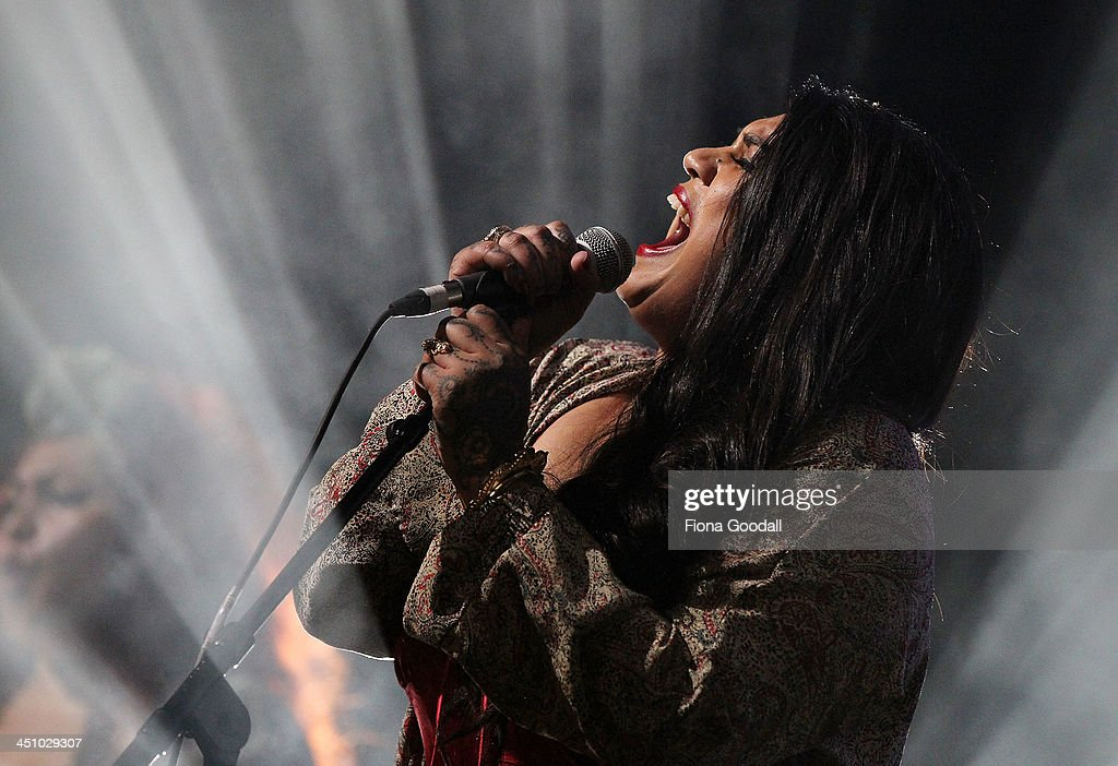 Aradhna performs on stage during the New Zealand Music Awards at Vector Arena on November 21, 2013 in Auckland, New Zealand.