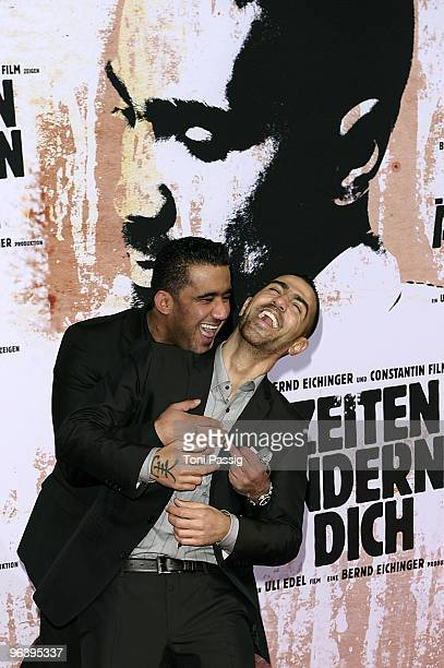 Arafat Abou Chaker and rapper Bushido attend the premiere of 'Zeiten aendern Dich' on February 3 2010 in Berlin Germany