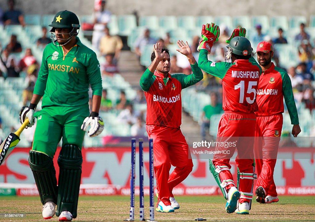 ICC World Twenty20 India 2016: Pakistan v Bangladesh : News Photo