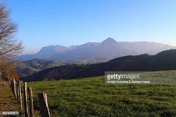 Aralar mountain range in Basque Country