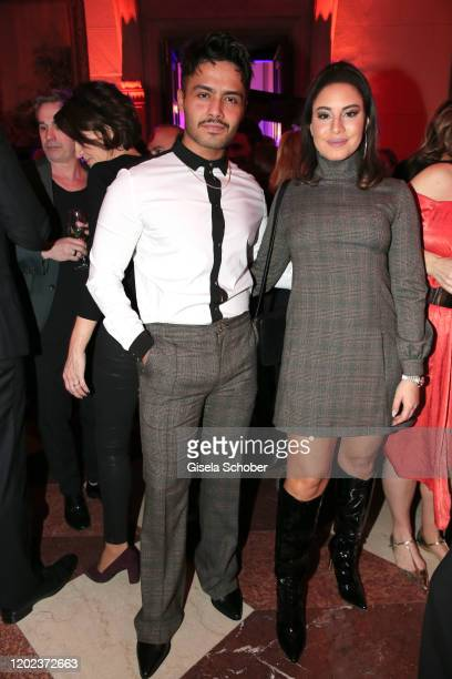 Aram Arami and Almila Bagriacik during the BUNTE & BMW Festival Night at Italienische Botschaft on February 21, 2020 in Berlin, Germany.
