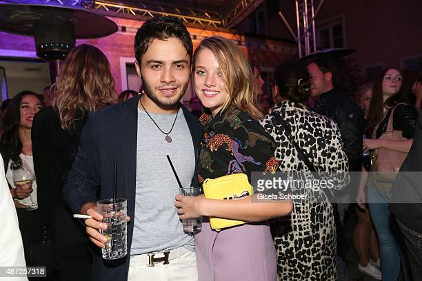 Aram Arami Jella Haase during the world premiere of 'Fack ju Goehte 2' afterparty at Burger Lobster Bank on September 7 2015 in Munich Germany