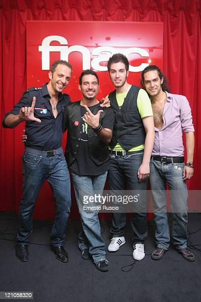 Aram Quartet showcase at FNAC on July 26 2008 in Rome Italy