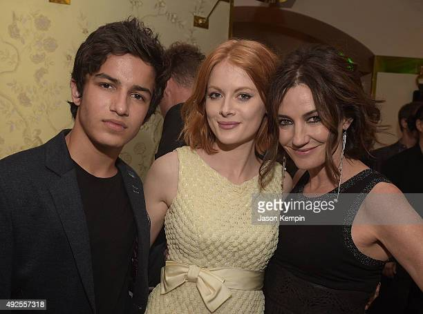 Aramis Knight Emily Beecham and Orla Brady attend the after party for the screening of AMC's 'Into The Badlands' at The London West Hollywood on...