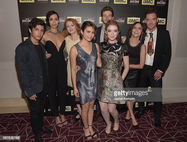 Aramis Knight Madeleine Mantock Emily Beecham Ally Ioannides Oliver Stark Sarah Bolger Orla Brady and Marton Csokas attend a screening of AMC's 'Into...