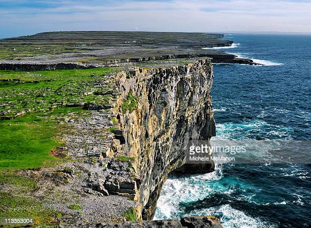 aran island cliffs - dun aengus stock pictures, royalty-free photos & images