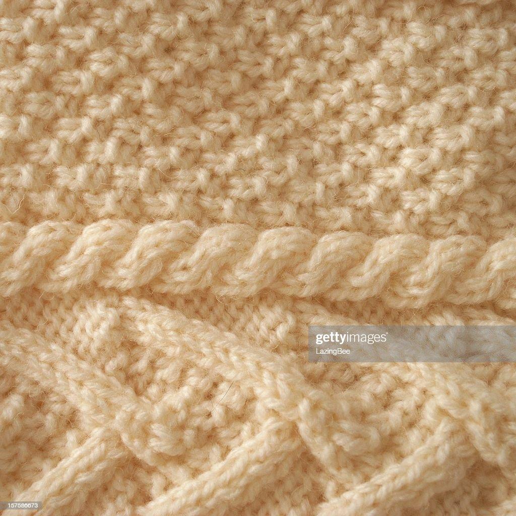Aran Knit Background : Stock Photo