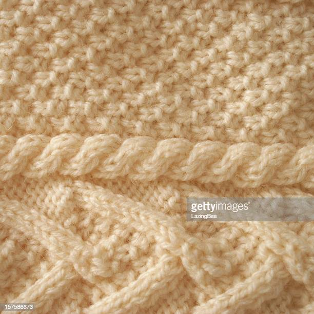 aran knit background - knitted stock pictures, royalty-free photos & images