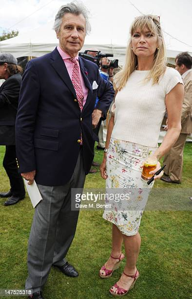 Aranaud Bamberger and Deborah Leng attends the Cartier Style Luxury Lunch Reception at the Goodwood Festival of Speed on July 1 2012 in Chichester...