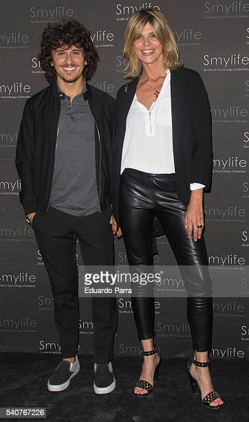 Arancha de Benido and Agustin Etienne attend the 'Smylife Collection Beauty Art' photocall at Smylife clinic on June 16 2016 in Madrid Spain