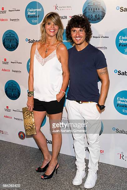 Arancha de Benito and Agustin Etienne attend Manuel Carrasco concert at Royal Theater July 28 2016 in Madrid Spain