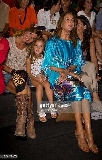 Arancha de Benito and Paquita Torres are seen attending Cibeles Fashion Week S/S 2012 at Ifema on September 17 2011 in Madrid Spain