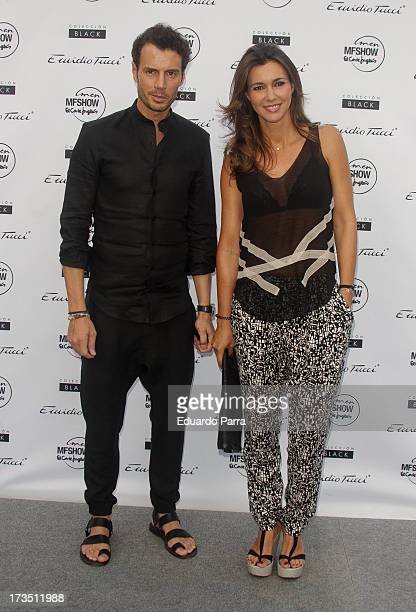 Arancha del Sol and Finito de Cordoba attend 'Emidio Tucci Black' parade photocall at Costume Museum on July 15, 2013 in Madrid, Spain.