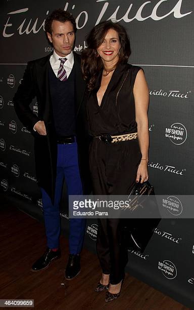 Arancha del Sol and Finito de Cordoba attend Emidio Tucci new collection photocall at Calderon theatre on January 20, 2014 in Madrid, Spain.