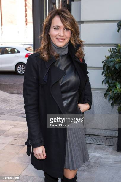 Arancha del Sol arrives at 'The Petite Special Day' fashion show at the Santo Mauro Hotel on January 31 2018 in Madrid Spain