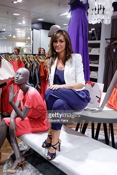 Arancha del Sol attends 'Elogy' collection by Juanjo Oliva at El Corte Ingles store on May 17 2012 in Madrid Spain