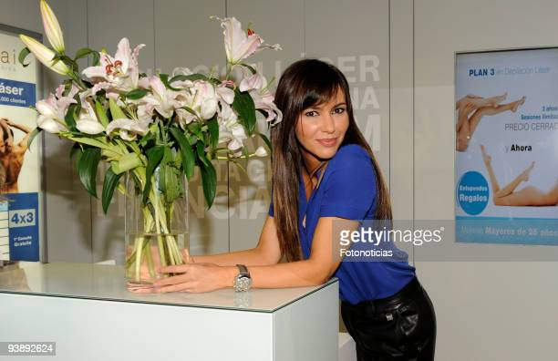 "Arancha del Sol attends the opening of the ""Health & Beauty Space"" at el Corte Ingles on December 4, 2009 in Madrid, Spain."