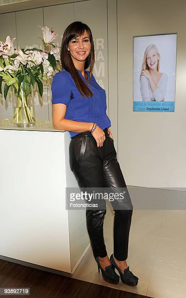 Arancha del Sol attends the opening of the 'Health Beauty Space' at el Corte Ingles on December 4 2009 in Madrid Spain