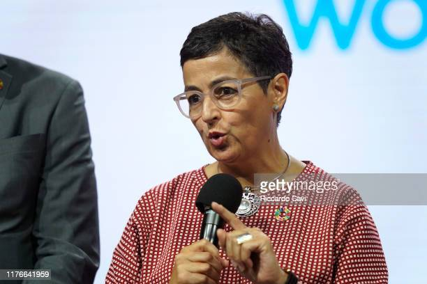 Arancha Gonzalez Executive Director of the International Trade Centre speaks onstage during the 2019 Concordia Annual Summit Day 1 at Grand Hyatt New...