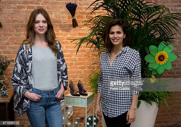 Arancha Marti and Sara Salamo attend the new 'Alma en Pena' Spring/Summer collection presentation at 'Espacio Mood' on April 29 2015 in Madrid Spain