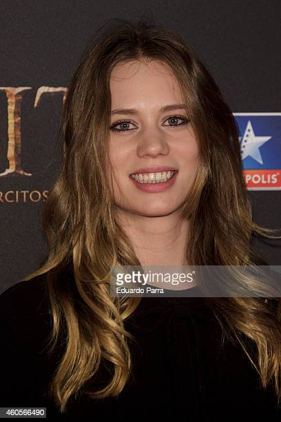 Arancha Marti attends 'El Hobbit La batalla de los cinco ejercitos' premiere photocall at Kinepolis cinema on December 16 2014 in Madrid Spain