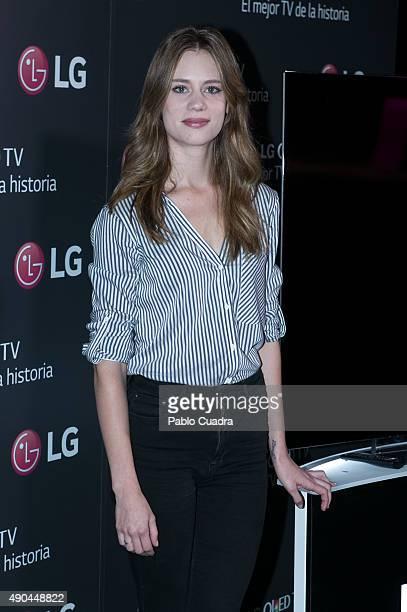 Arancha Marti attends 'LG Olet Presentation' at Complutense University on September 28 2015 in Madrid Spain