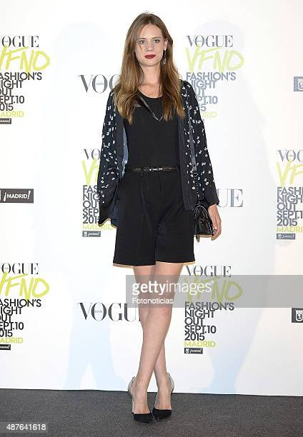 Arancha Marti attends the Vogue Fashion Night Out Madrid 2015 photocall at the Vogue VIP Tent on September 10 2015 in Madrid Spain