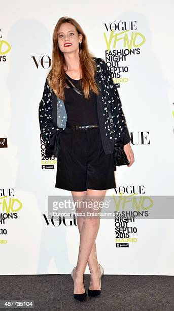 Arancha Marti attends Vogue Fashion Night Out Madrid 2015 photocall on September 10 2015 in Madrid Spain