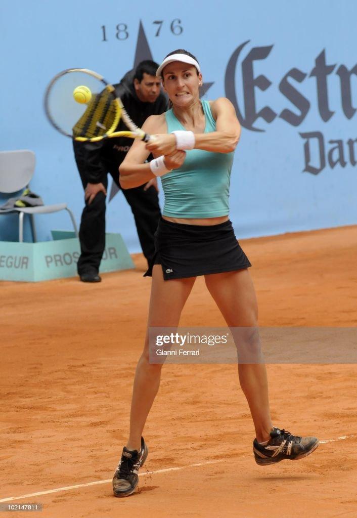 Arancha Parra, ESP, in 'Mutua Madrilena Madrid Open' of tennis, 8th May 2010, in 'La Caja Magica'. Madrid, Spain.