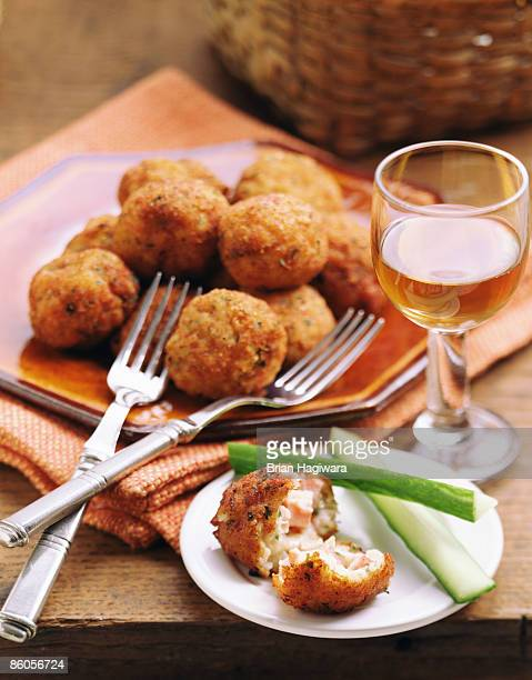 arancini di riso - rice ball stock pictures, royalty-free photos & images