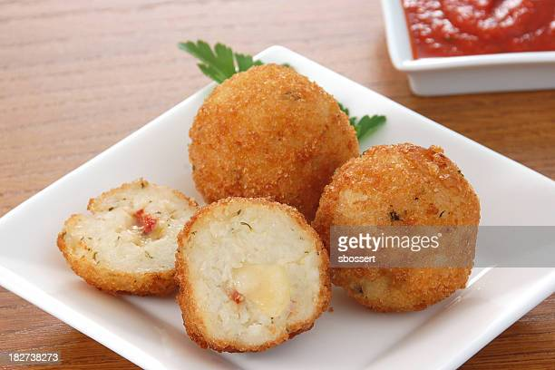 arancini - croquette stock photos and pictures