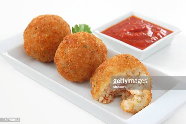 arancini - antipasto stock photos and pictures