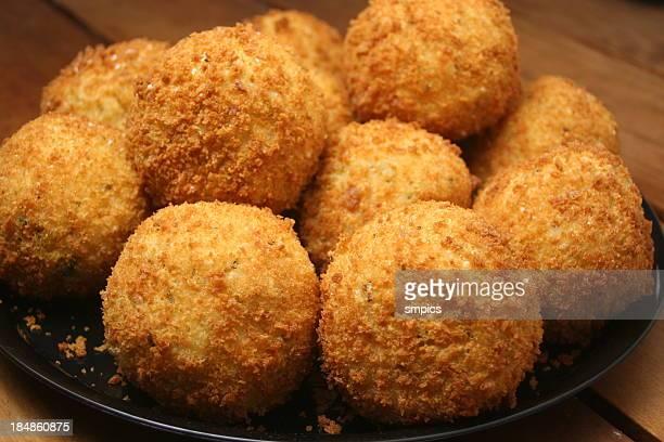 arancini (italian rice balls) - croquette stock photos and pictures