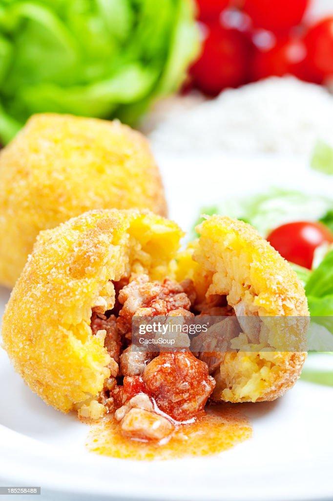 Arancini Siciliani : Stock Photo