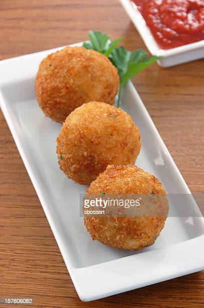 arancini - fritter stock photos and pictures