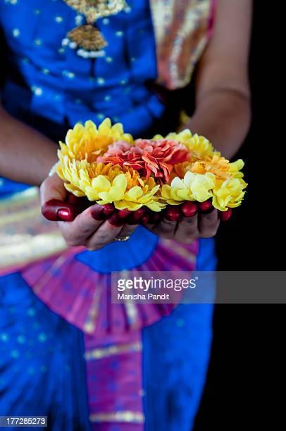Arangetram Welcome with Flowers
