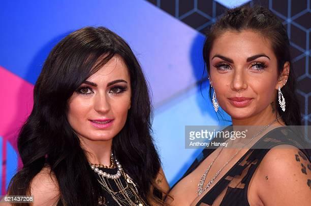 Arantxa Bustos and Elettra Lamborghini attend the MTV Europe Music Awards 2016 on November 6 2016 in Rotterdam Netherlands