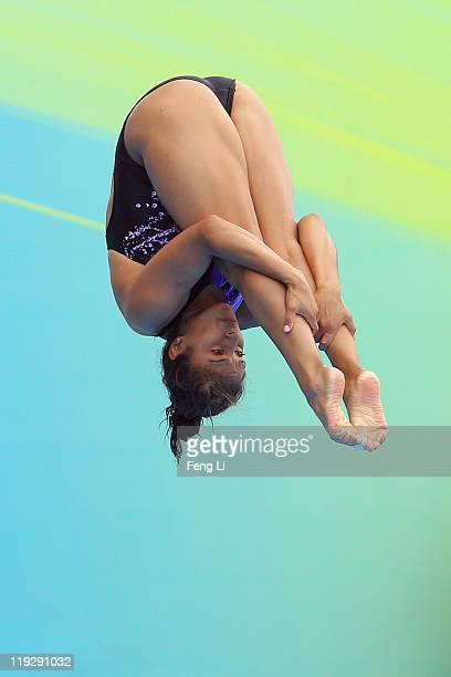 Arantxa Chavez of Mexico competes in the Women's 1m Springboard preliminary round during Day Two of the 14th FINA World Championships at the Oriental...