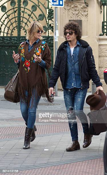 Arantxa de Benito and Agustin Etienne are seen on December 14 2015 in Madrid Spain
